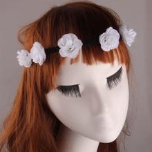 Boho Flowers Headband Wedding Floral Flower Festival Forehead Flower Headband Hair Garland Girls Hair Accessories CNHB