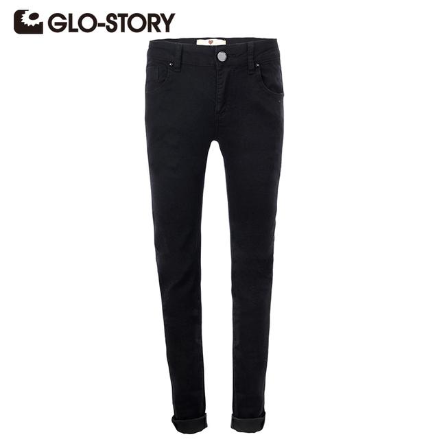Glo-этажный женские брюки 2016 новинка европейский стиль женщины брюки тощие черный ...