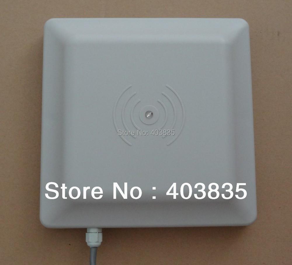 UHF RFID card reader 6m long range, 8dbi Antenna RS232/RS485/Wiegand Read 6M Integrative UHF RFID Reader(China (Mainland))