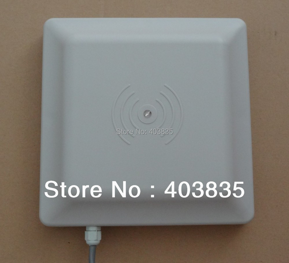 UHF RFID card reader 6m long range, 8dbi Antenna RS232/RS485/Wiegand Read 6M Integrative UHF Reader(China (Mainland))