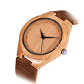2016 Hot Sales Luxury Men s Women s Bamboo Wood Watch Quartz PU Leather Lovers Wristwatches