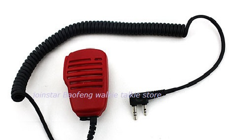 New 2016 Red Speaker Mic For BAOFENG UV-5R 5RA/B/C/D/E UV-3R+ kenwood Walkie Talkie with free shipping(China (Mainland))