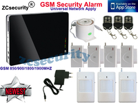 Support Android & iOS Apps Wireless Wired Home Security Smart GSM Alarm System home Alarm English Russian French Spanish German