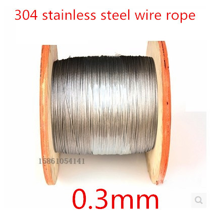 Гаджет  0.3mm  Stainless Steel 304 Wire Rope / Fishing Rope / Extra-fine wire / Mold Rope 0.3mm 1*7 100Meter None Строительство и Недвижимость