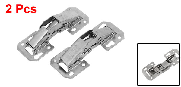 Cabinet Cupboard Door Metal Buffer Damper Inset Concealed Hinge 83mm Length 2pcs(China (Mainland))