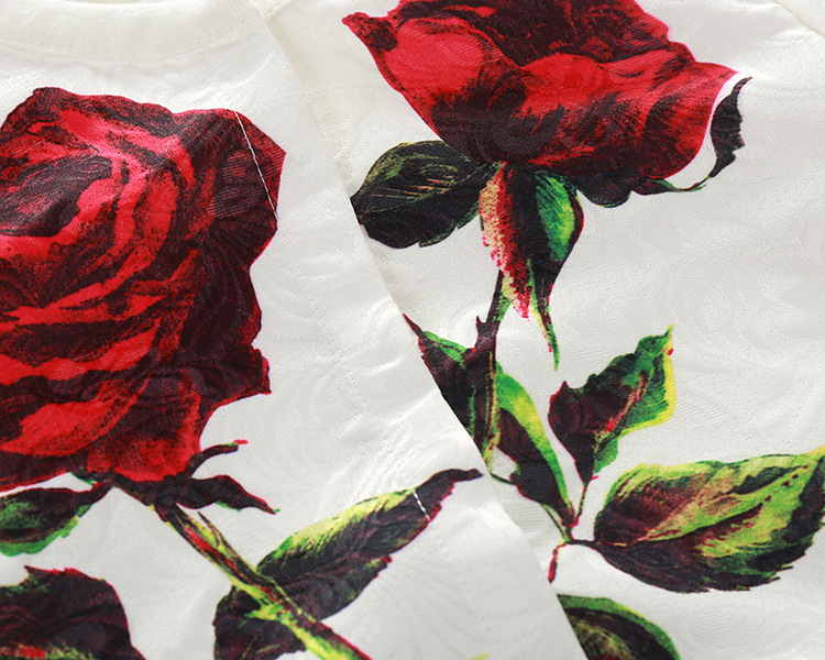 Скидки на 2016 kimocat модельер роза печати Девочек Футболка Куртка Брюки три части набора