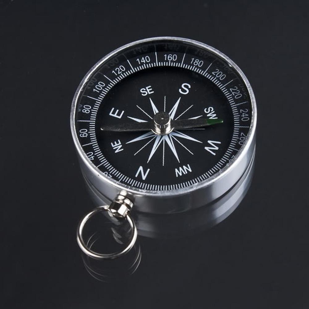 2pcs Mini Aluminum Camping Compass Hiking Hiker Navigation Easy carry 100% wholesale Drop