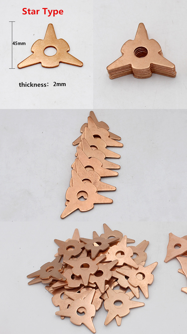 10PCS Meson Gasket Car Shape Sheet Metal Repair Plastic Machine Accessories Star Welding Piece