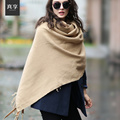 Men's Classic Warm Scarf Male Plaid Business Knitting Wool Scarves Fashion Fall and Winter Knitting Wool Scarf B-4628