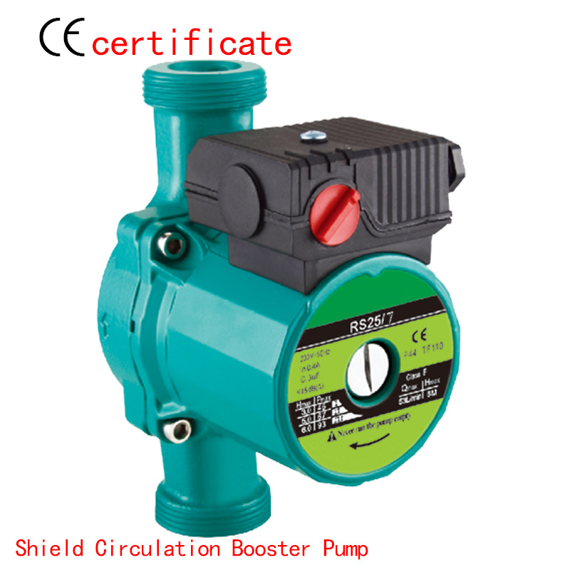 CE Approved shield circulating booster pump RS25-7, pressurized with industrial equipment, air condition, solar , warm water(China (Mainland))