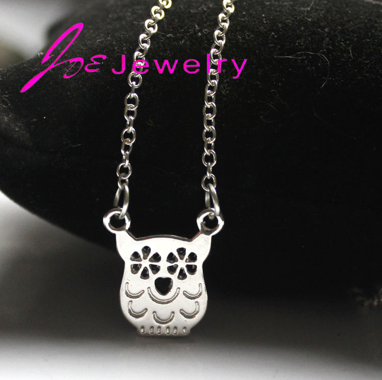 1PC Cute Owl Necklace pendants for women Animal necklace Owl Choker necklaces Simple Tiny Chain necklaces Female(China (Mainland))