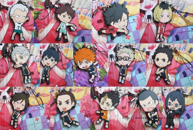 Haikyuu! Volume 2 Anime Nekoma Karasuno High School With Volleyball Rubber Resin Keychain<br><br>Aliexpress