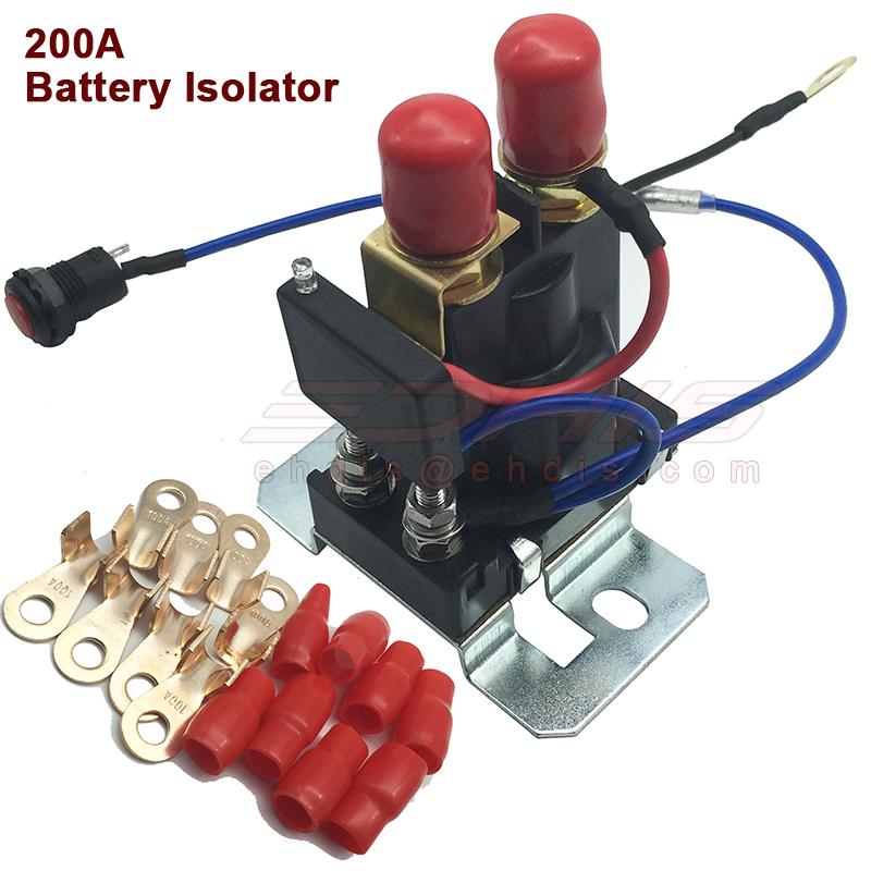 200 AMP car Battery Isolator Dual Battery auto increase battery 12V / 24V(China (Mainland))