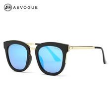 AEVOGUE Sunglasses Women Newest Luxury Brand Designer Alloy Temple Flat Lens Sun Glasses Vintage With Box UV400 AE0388