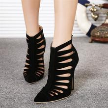 Black Heels Womens Pumps 2016 Sandalias Mujer Scarpe Donna Tacco Black Heels Schuhe Spring Sapatos De Mulher Extreme High Heels