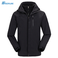 Dropshipping outdoor waterproof thicken jakcet new travel ski outerwear coat sport double layer 3 in 1