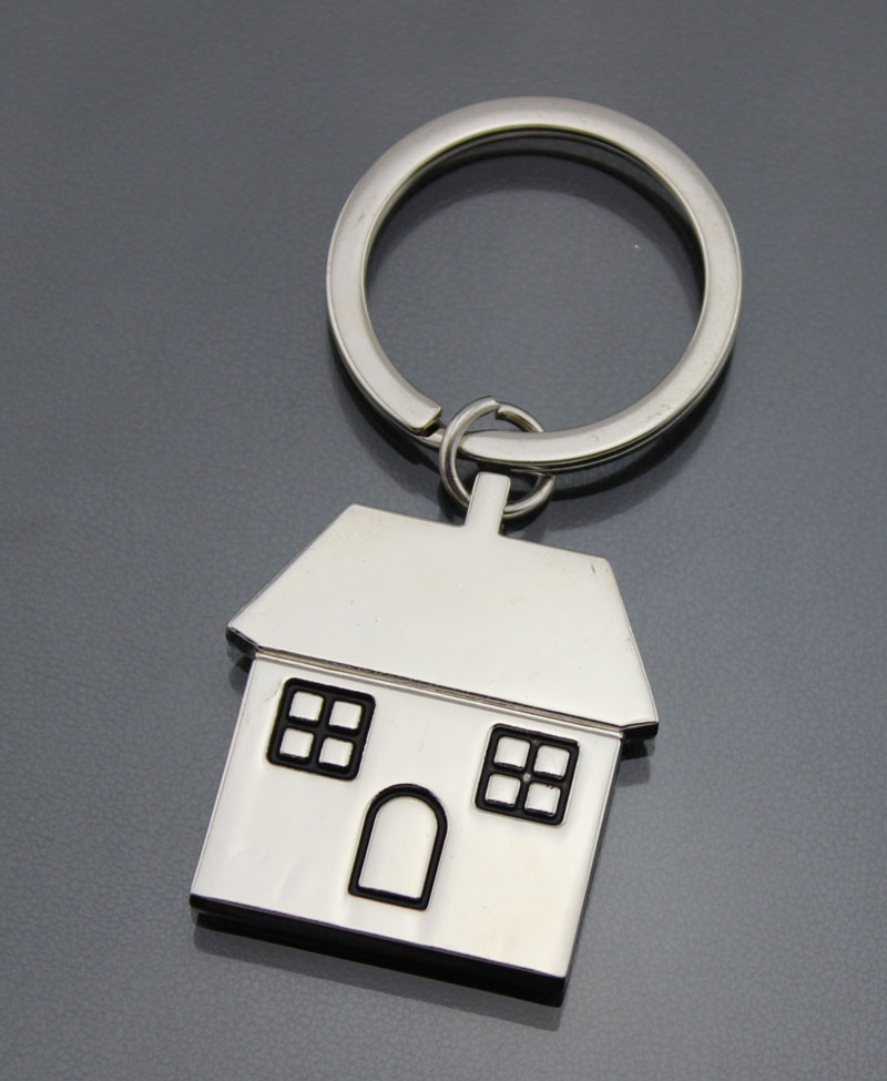 new arrival factory direct sales promotion house key chain keychain key ring(China (Mainland))