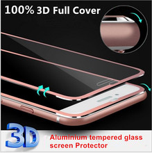 2016 Clear Front Screen Protector for iPhone 6 6s&6s Plus Tempered Glass Full Cover 3D Full Curved Edge Titanium Protective Film