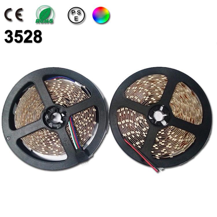 [해외]5m SMD 3528 12V의 RGB LED 스트립 라이트 네온 luzes 유..