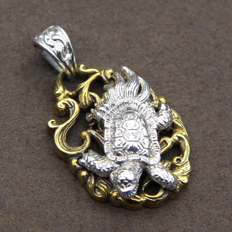 925 sterling silver punk personality four great god beast basaltic locket pendant<br><br>Aliexpress