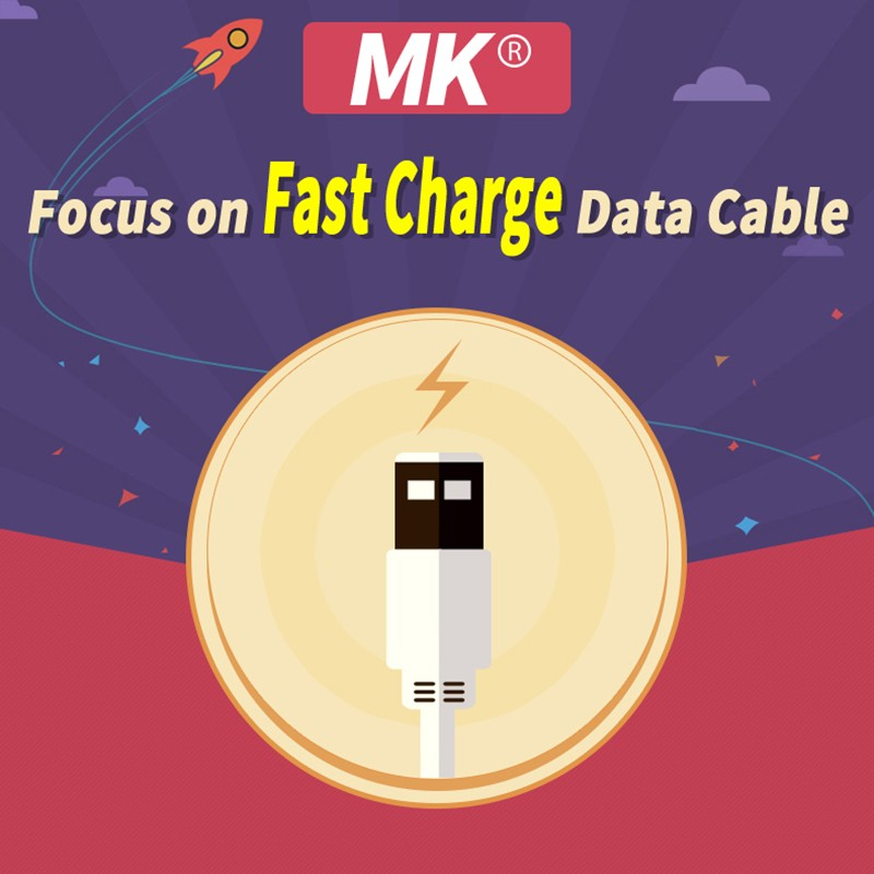 Genuine MK Type-C Data USB Cable 0.5m Sync Charge Cable High Speed Line for 12 Inch Macbook For Nokia N1 Xiaomi 4c MEIZU PR05