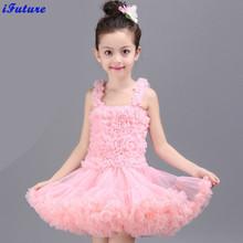 2016 New Fashion Summer baby girls dress birthday party princess fluffy tutu dresses Girl Dance Costumes Ballet Dancewear(China (Mainland))