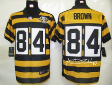 A+++ all stitched ,Pittsburgh Steelers signature #84 Antonio Brown(China (Mainland))