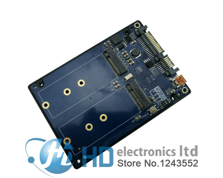 Free shipping Double NGFF turn SATA3.0 adapter SSDs riser M.2 new interface specifications not require software drivers<br><br>Aliexpress
