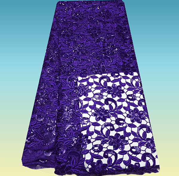 Здесь можно купить  PA6-2! Purple! Nice looking guipure lace fabric with sequins, high class African cord lace fabric, French lace for women dress!  Дом и Сад