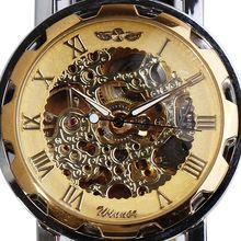 Ganador de la personalidad de la tendencia de mecánico automático relojes casual vintage correa de reloj del recorte jwh028