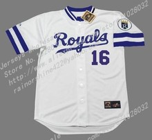 Cheap Mens Kansas City Royals Jersey #5 George Brett #16 Bo Jackson Throwback Baseball Jerseys Home,Embroidery,S~3XL(China (Mainland))