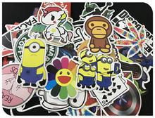 100 pcs New Fashion Mixed Emoji Stickers For Children Anime Cartoon Stickers In Notebook Wall Car Sticker Skateboard FF-BQB3