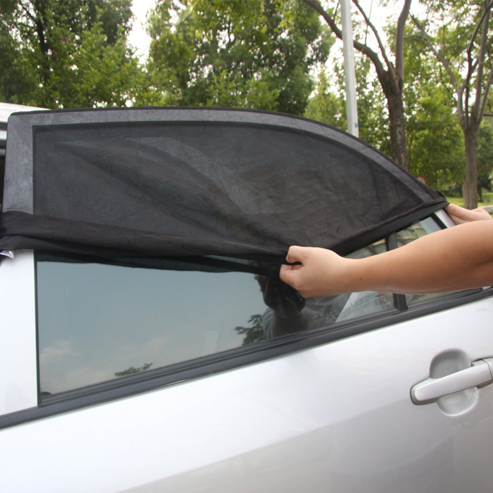 2pcs universal adjustable car sun shades uv protection window shield mesh cover car sun visor. Black Bedroom Furniture Sets. Home Design Ideas