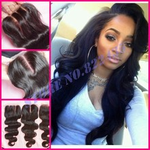 Grade 6A Malaysian Body Wave Closure Cheap Unprocessed Silk Base Closure Bleached Knots 4×4 Closure Humen Hair
