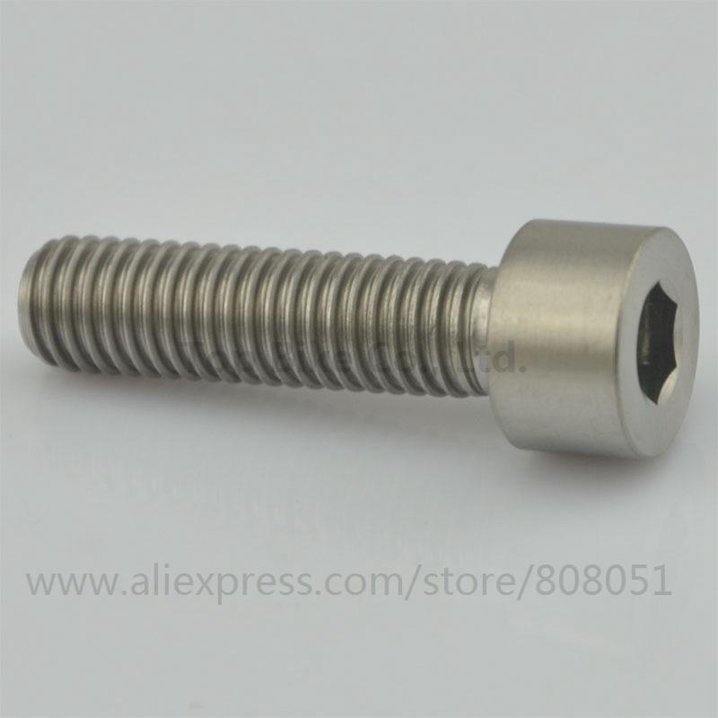 Titanium Ti Bolts M8 30 M8*30 M8x30 30mm Hexagon Socket Cap Screw Allen Head Bike Fastener Bike Accessories(China (Mainland))