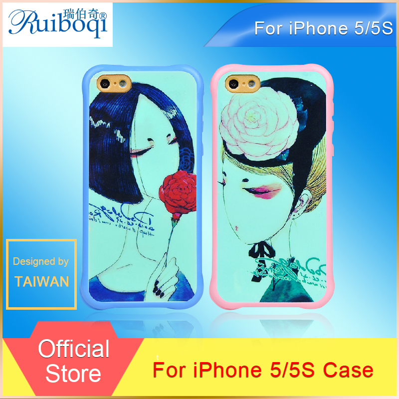 2015 New Ruiboqi Phone Case For Apple iPhone 5 5s Case Sillicon Phone Back Cover for iPhone 5s Colorful Pattern for Choosing(China (Mainland))