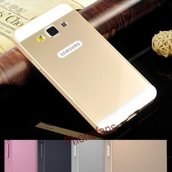 A3 Luxury Aluminum Frame + Acrylic glass back cover Metal Case for samsung Galaxy A3 A3000 A300F Ultrathin Push-Pull Phone Bags(China (Mainland))