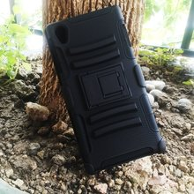 Future Armor Robot Combo Protective Phone Case Cover For Sony Xperia Z3 Heavy Duty Shockproof Cell