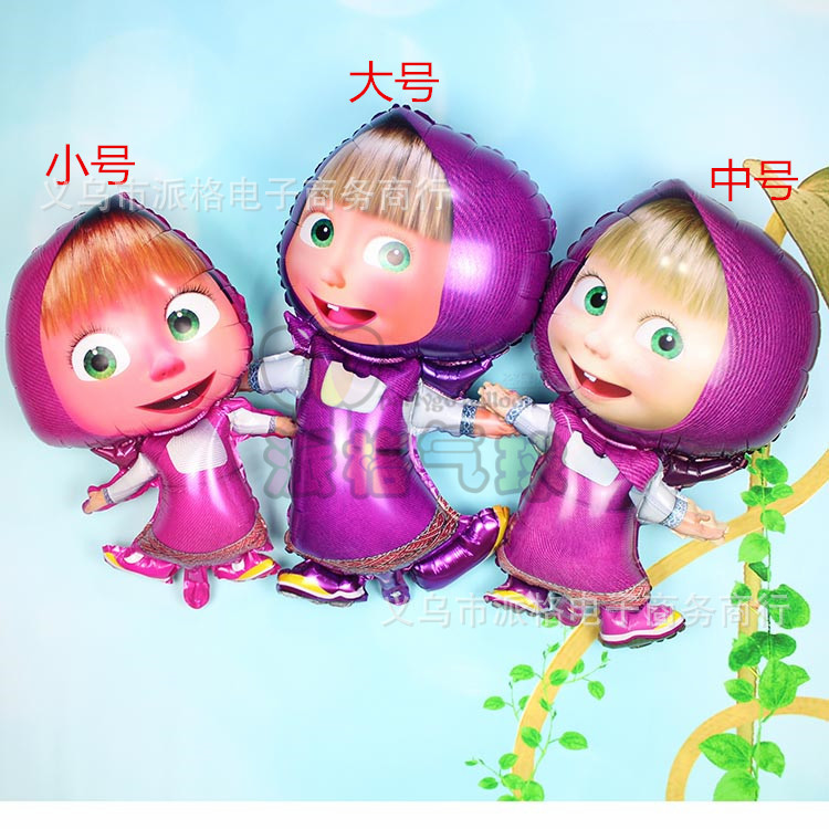 Mixed ! largest middle small shaped Masha Balloons Decoration Classic Inflatable Toys Martha Ballons For Children(China (Mainland))