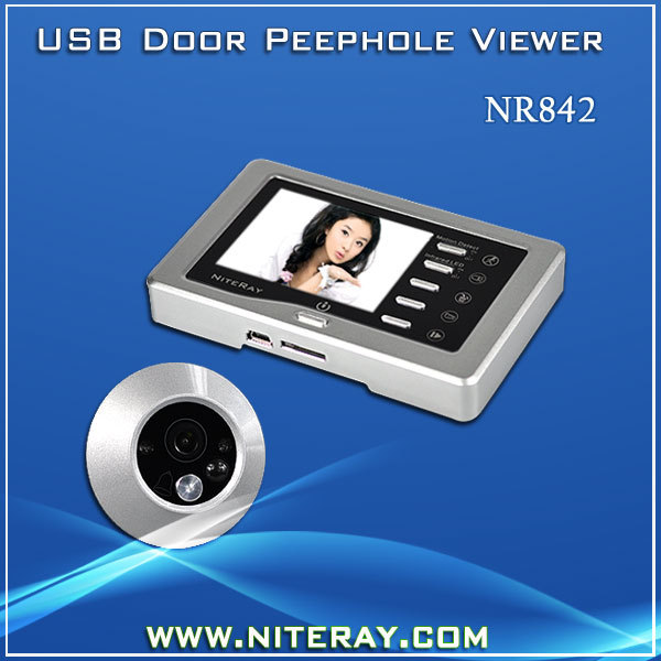 3.0'' Inch LCD Screen Door Video Camera Door Peephole Camera With Door Bell Support Motion Detection and 160 Degree Wide Angle(China (Mainland))