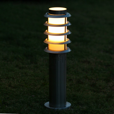 60cm 80cm 1M landscape post light waterproof IP65 stainless steel outdoor Garden lawn pillar light post lamp bollard light(China (Mainland))