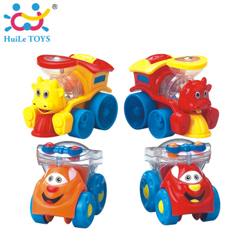 1PC HUILE Toys High Quality Children Racing Car Street Sweepers And Truck Baby Mini Cars Cartoon Toy Gifts 4 Color Free Shipping(China (Mainland))