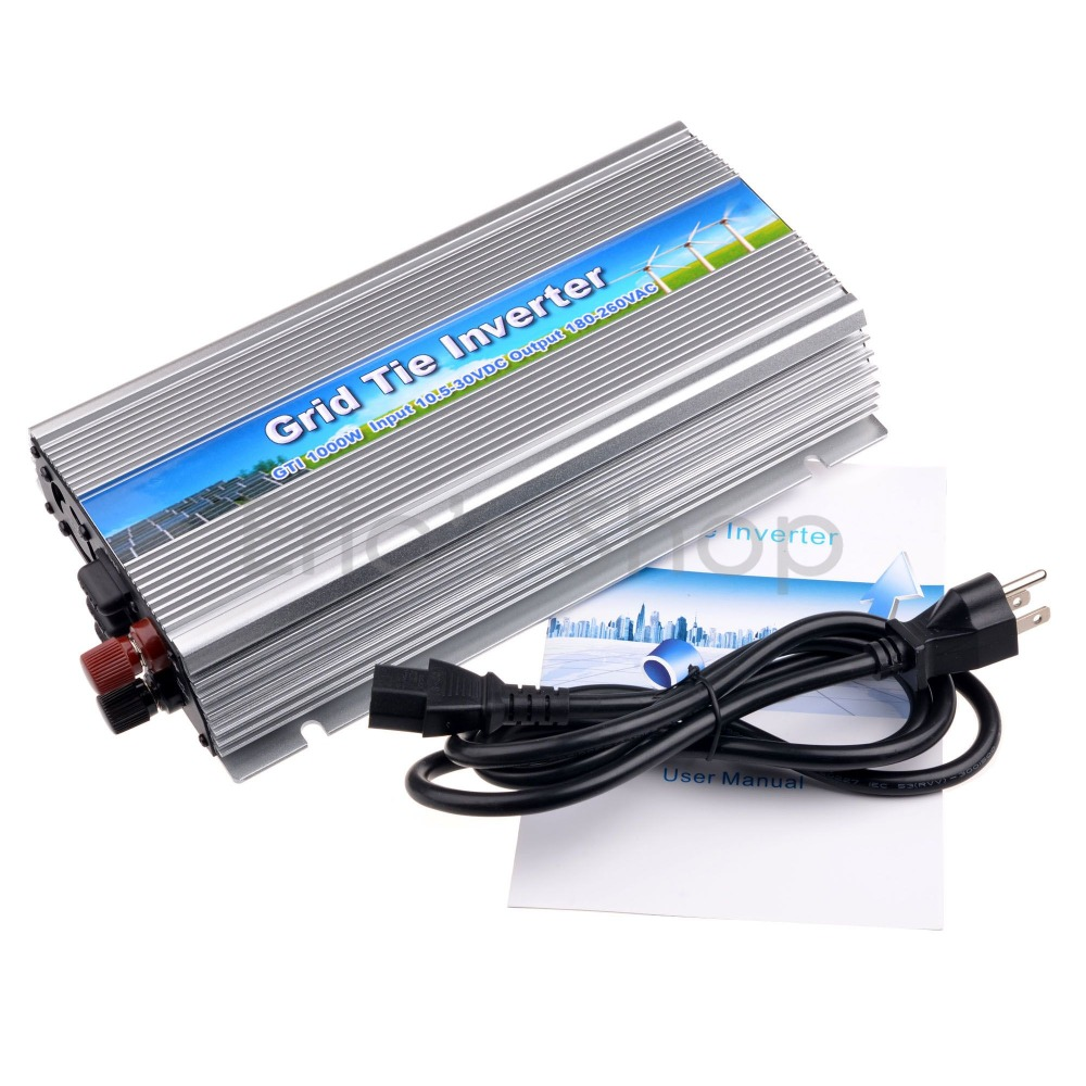 MPPT 1000W Grid Tie Inverter DC10.5-30V to AC230V Fit for 24V/30V/36V 60cells/72cells Solar Panel Pure Sine Wave Inverter CE(China (Mainland))