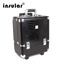 2016 New Arrival Shipping Free Professional Aluminum Makeup Trolley Case With Padlock Aluminum Cosmetic Case(China (Mainland))
