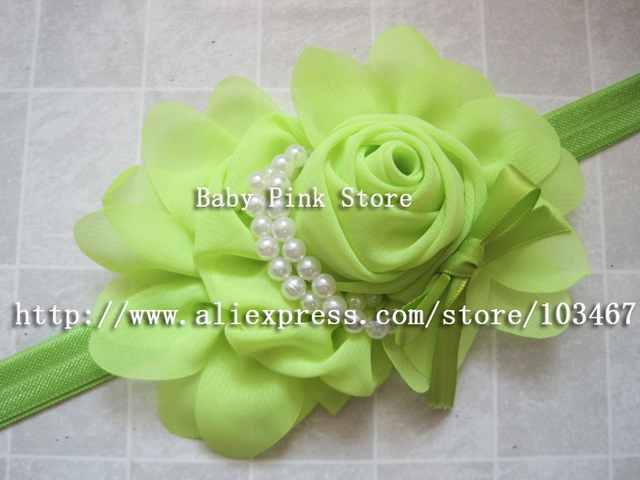 Min order is $10(mix order) fashion children Beautiful flower Headband with pearl Baby Girls flowers headbands,