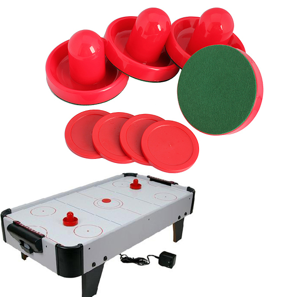 New 4Pcs Air Hockey Table Goalies with 4pcs Puck Felt Pusher Mallet Grip Air Hockey Accessories Tool(China (Mainland))