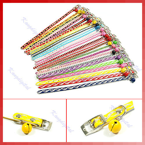 D19+Free Shipping 1pcs Dazzling Pet Leather Drill Collar with Bells Band(China (Mainland))