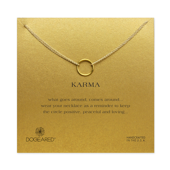 Hot Sale karma chain Circle necklace plated 14k gold Pendant necklaces short Fashion Statement Necklace Women Jewelry