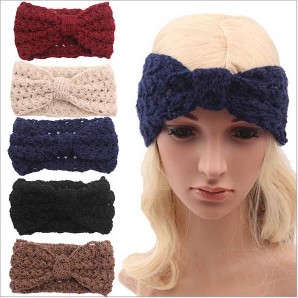 adult winter fleece crochet knit headbands braided headband wool ...