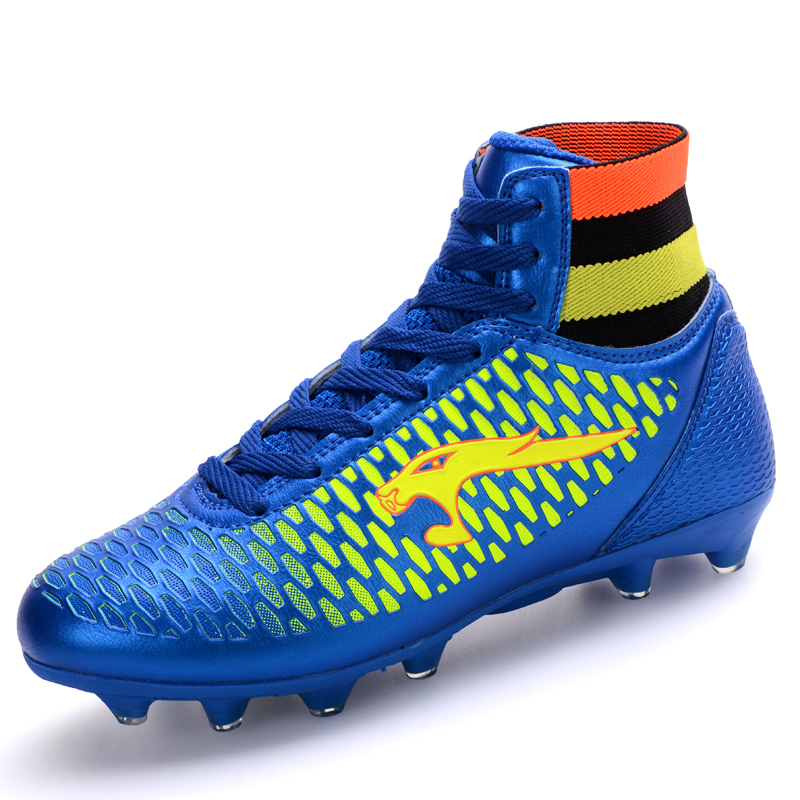 2016 Children Soccer Shoes Boys Girls Football PU Leather Kids' Sports Shoes,Big Size:33~44 - Style show 906 store